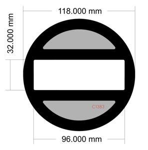 Picture of C1383 - 118mm diameter
