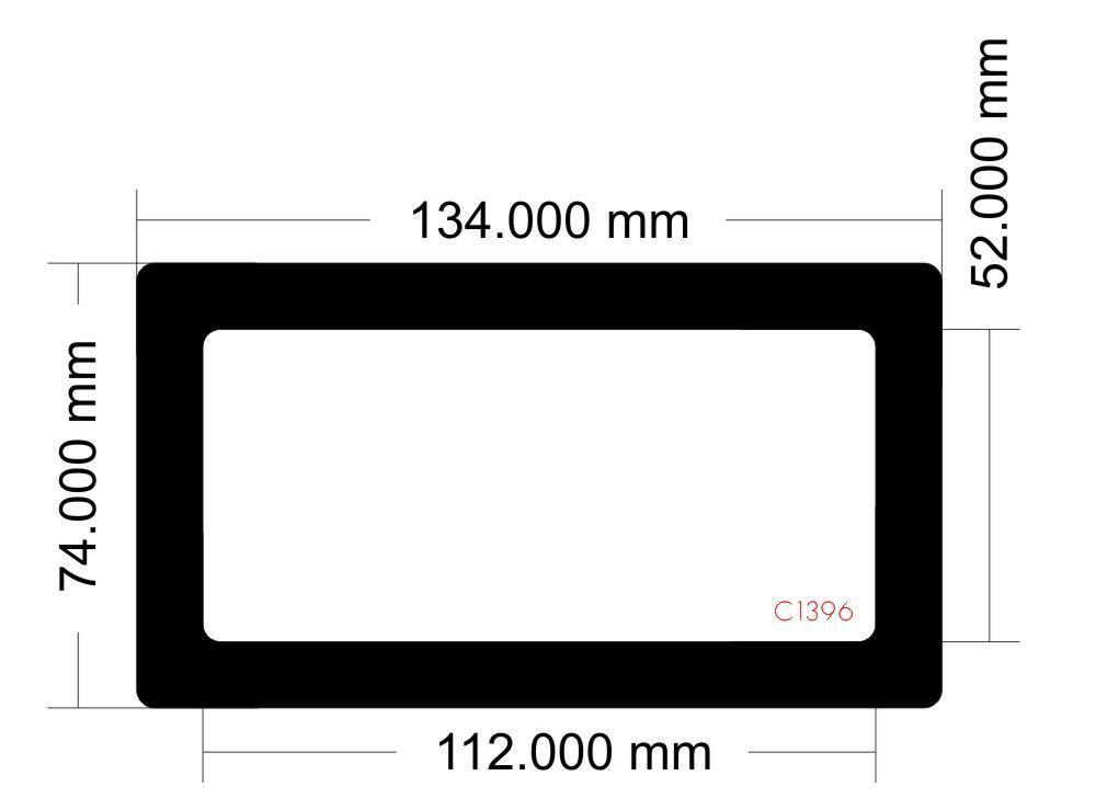 Picture of C1396 - 134mm x 74mm - an Li TU150 Mini ITX Desktop Case Model TU150X PSU filter