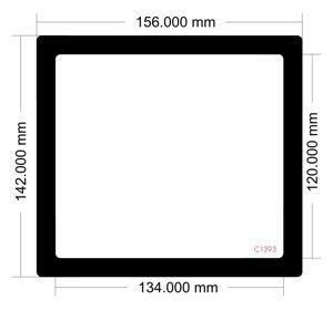 Picture of C1393 - 156mm x 142mm -Lian Li TU150 Mini ITX Desktop Case Model TU150X Front filter