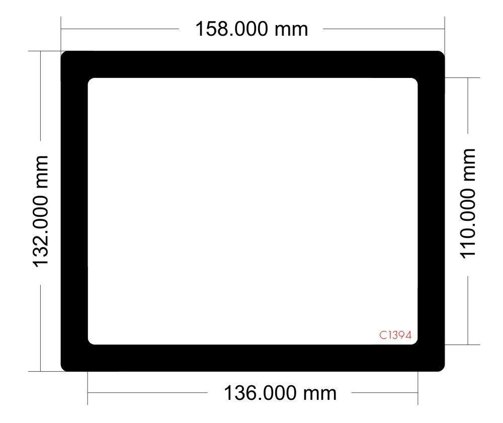 Picture of C1394 - 158mm x 132mm -Lian Li TU150 Mini ITX Desktop Case Model TU150X Rear filter