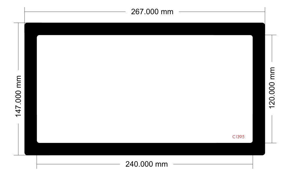 Picture of C1395 - 267mm x 147mm -Lian Li TU150 Mini ITX Desktop Case Model TU150X Bottom filter