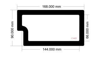 Picture of C1422 - 168mm x 90mm - Sliger SV590 Bottom Filter