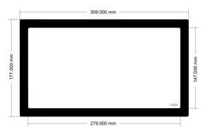 Picture of C1425  - 309mm x 177mm Fractal Design Focus G Front Filter