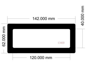 Picture of C1435 - 142mm x 62mm