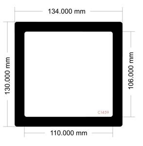 Picture of C1459- 134mm x 130mm -Rosewill Thor V2 Bottom Filter