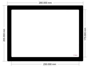 Picture of C1464 - 280mm x 205mm - NCase M1 V6.1 Side Filter