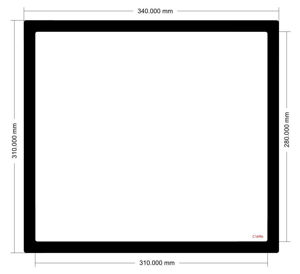 Picture of C1496 - 340mm x 310mm