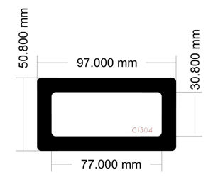 Picture of C1504 - 97mm x 50.8mm