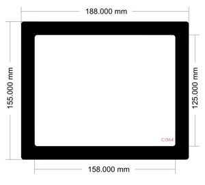 Picture of C1564 - 188mm x 155mm