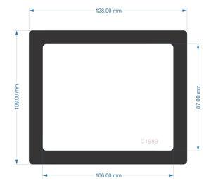 Picture of C1589- 128mm x 109mm - Fractal Design Define 7  Rear PCIE slot Filter