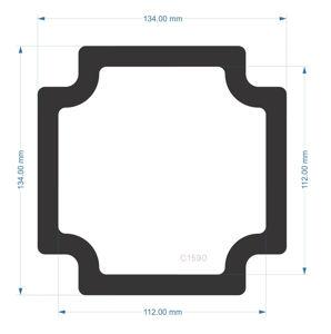 Picture of C1590- 134mm x 134mm - Fractal Design Define 7  Rear  Filter