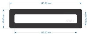 Picture of C1584 - 145mm x 38mm - Fractal Design Define 7 Front Drive Bay Filter
