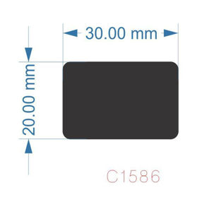 Picture of C1586 - 30mm x 20mm - Magnet and face only