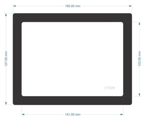 Picture of C1628 - 165mm x 127mm - CoolerMaster TD500Mesh Rear Filter 1
