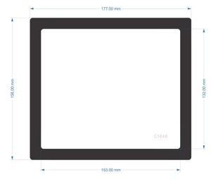 Picture of C1646 - 177mm x 156mm - Corsair 4000D Air Flow Bottom Front Filter
