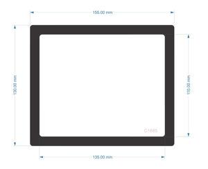 Picture of C1685- 155mm x 130mm  Zalman Z2 Bottom Filter