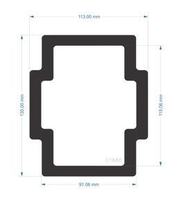 Picture of C1686- 135mm x 113mm Zalman Z2 Rear fan Filter