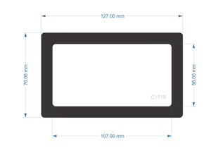 Picture of C1719 -  127mm x 76mm - Cooler Master MasterBox Q300 Rear Filter