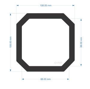 Picture of C1737- 108mm x 108mm  - Corsair carbide Spec-02 Rear Filter
