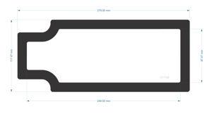 Picture of C1739- 279.5mm x 117.475mm - Corsair carbide Spec-02 Bottom Filter