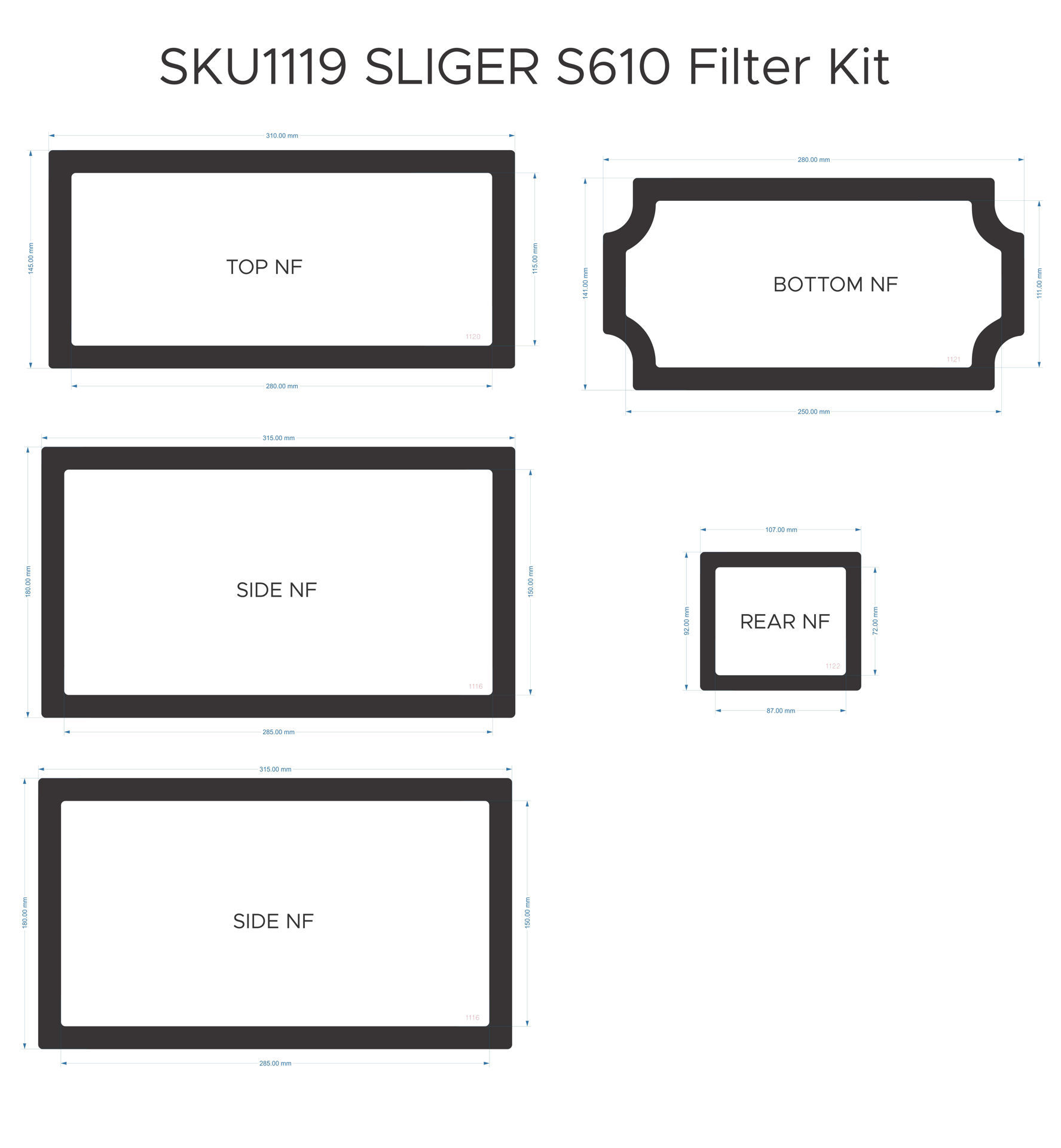 Picture of Sliger S610 Filter Kit without handle