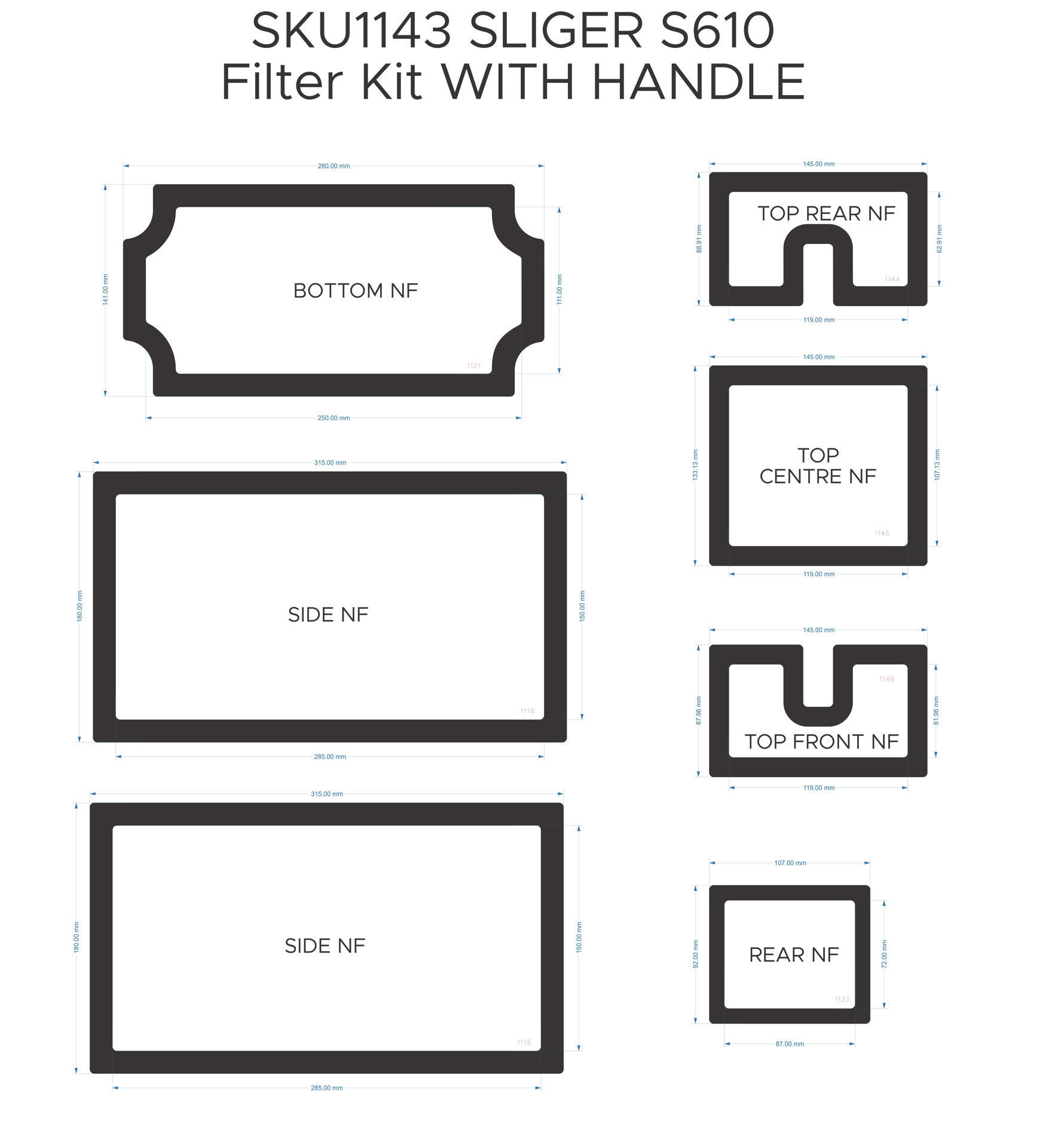 Picture of Sliger S610 Filter Kit with Handle
