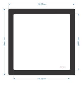 Picture of C1829 - 159mm x 159mm - HP Elitedesk 800 G4 Mini custom filter