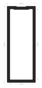 Picture of C1907 - 384mm x 136mm - Fractal Define 7 XL Front Filter Large
