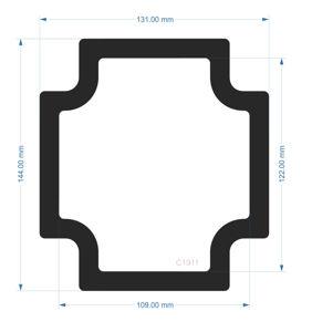 Picture of C1911 - 144mm x 131mm - Fractal Define 7 XL Rear fan Filter